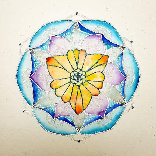 Himmelsfarben Lebensblumenbild