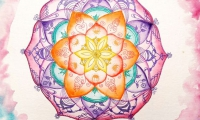 Lebensblumenbild Aquarell 30x40