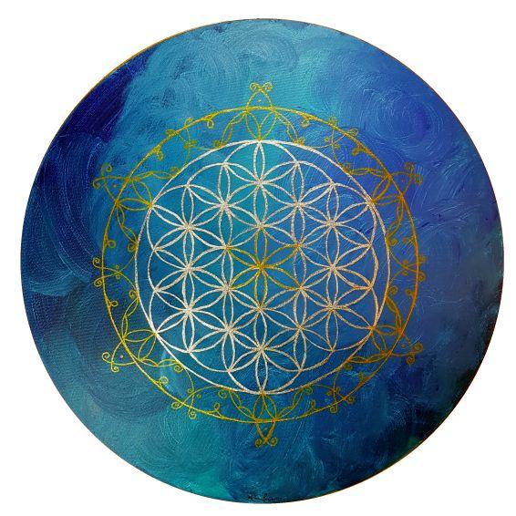 Lebensblume blau 2