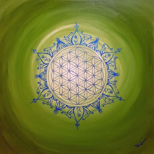 Lebensblumenbild grün blau1