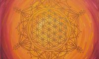 Mandala Lebensblumenbild feurig