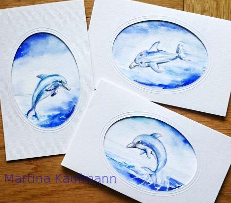 Grußkarten Delfin