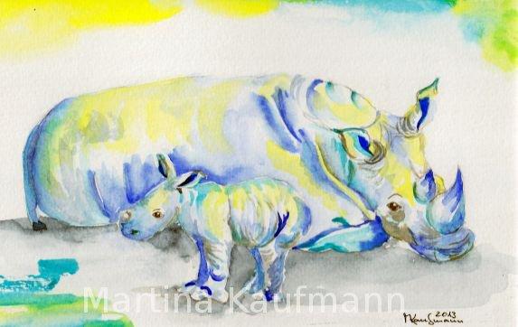 Rhino Mutterliebe